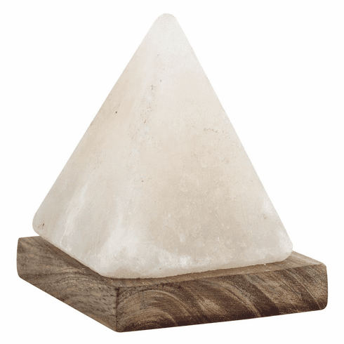 USB Pyramid Rock Salt Lamp