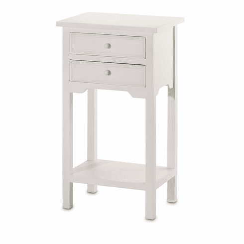 White Accent Table