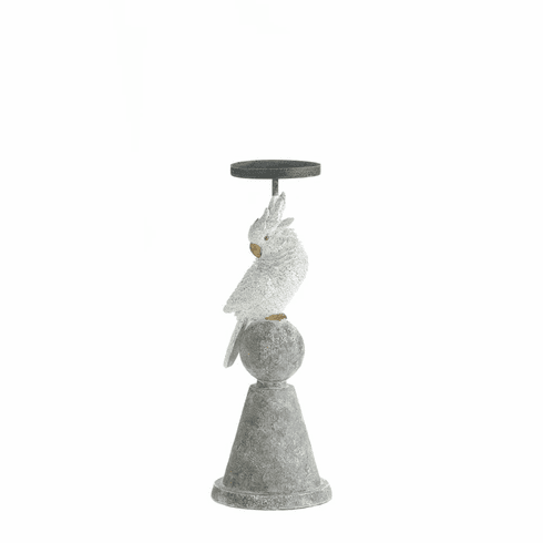 White Cockatoo Candle Holder