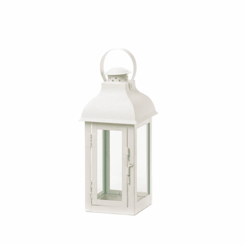 White Gable Lantern - Medium