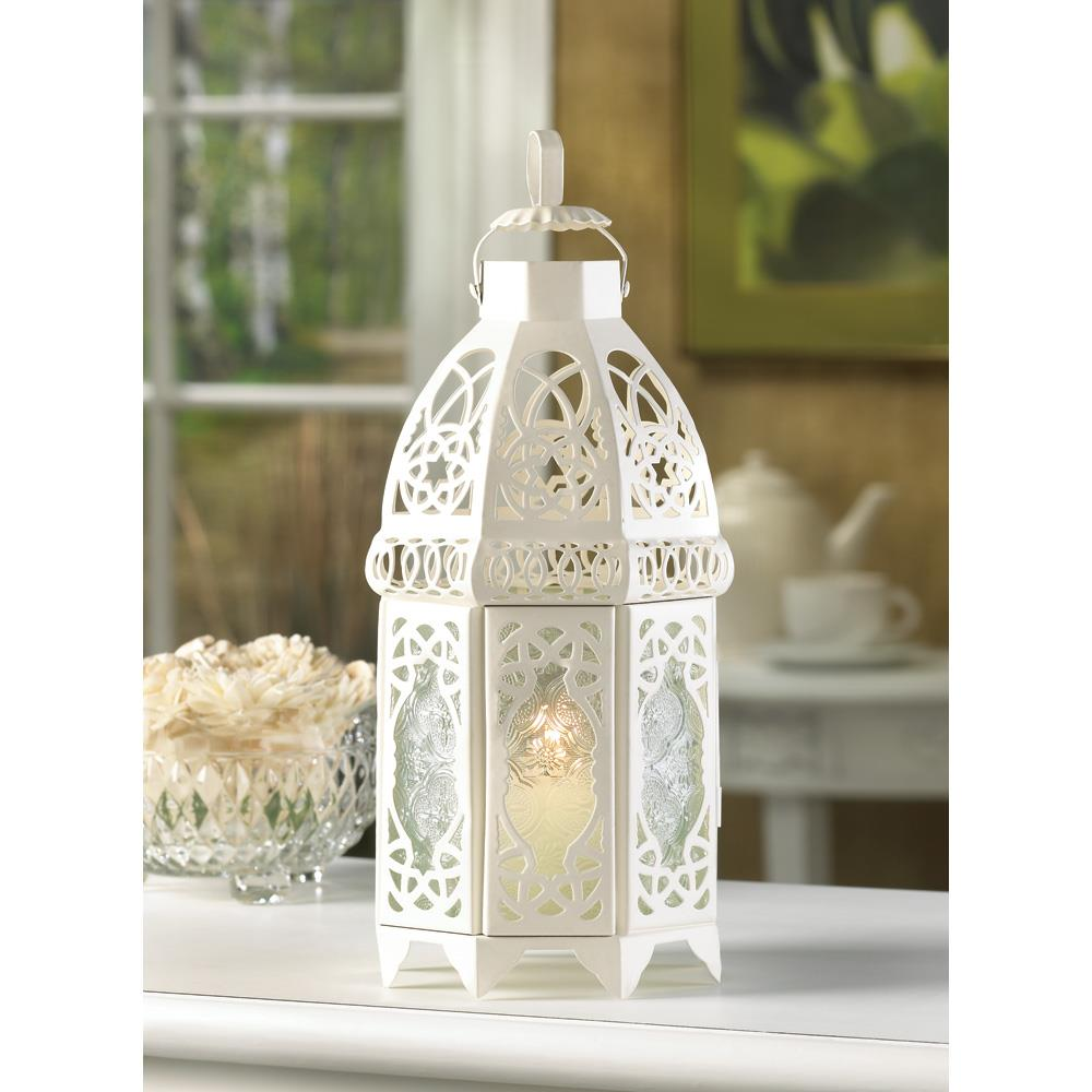 White Lattice Lantern Wholesale At Koehler Home Decor