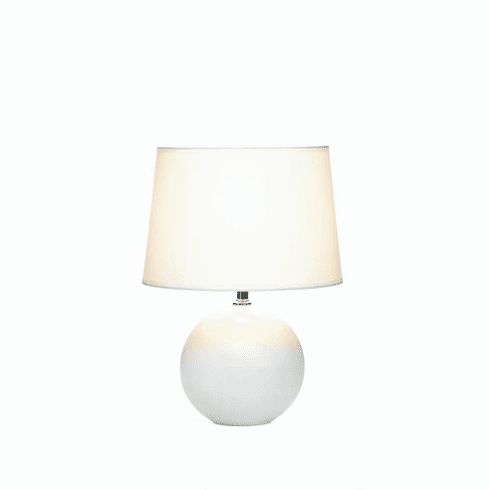 White Round Base Table Lamp