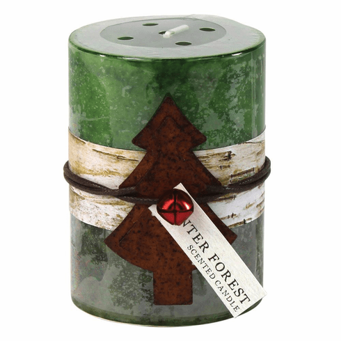 Winter Frost Rustic Candle 3X4