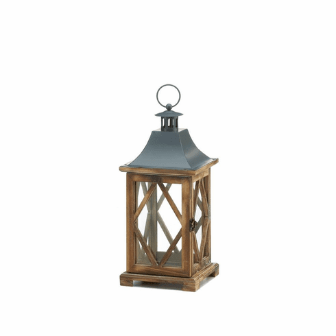 Wooden Diamond Lattice Lantern