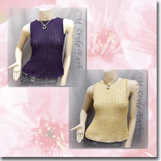 Beaded Crochet Knit Blouse Tank Top Series