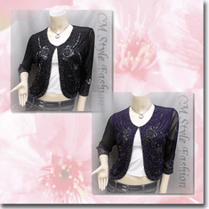 Beaded Sequin Embroidered Evening Bolero Shrug Top Series