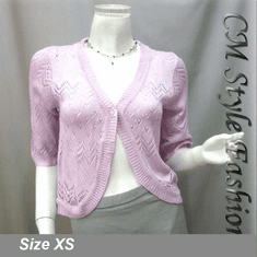Chic Eyelet Sweet Cardigan Sweater Top Purple