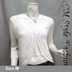Chic Eyelet Sweet Cardigan Sweater Top White