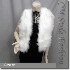 Chic Faux Fur Fluffy Vest Waistcoat Off White