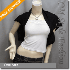 Chic Versatile Shrug Bolero Topper Black