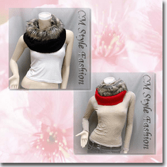Faux Fur Knitted Neck Warmer Wrap Scarf