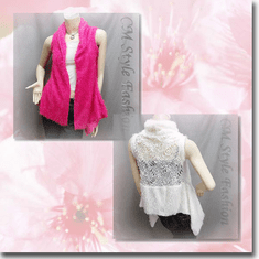 Faux Fur w/ Floral See Through Back Vest Top Series