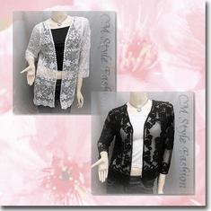 Floral Embroidered Lace Mesh Cardigan Bolero Series