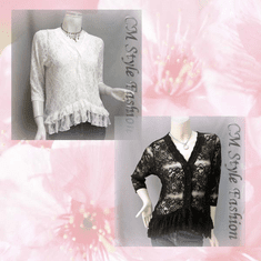 Floral Laced Sheer Top Series