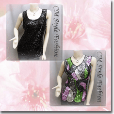 Glittering Sequin Tank Vest Top Series