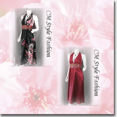 Halter Floral Satin Dress w/ Belt