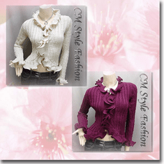 Knit Crochet Rippled Scallop Cardigan Top Series