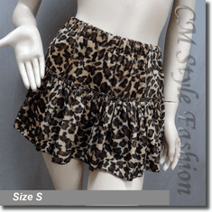 Safari Leopard Print Tiered Layering Mini Skirt