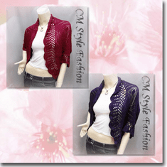 Scallop Eyelet Knit Shrug Cardigan Series