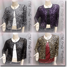 Sequin Embroidered Bolero Top Series