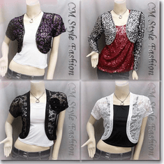 Sequined Embroidered Short Bolero Top Series