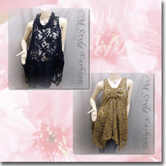 Sheer Flower Lace Flowy Tunic Series