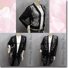 Sheer Sequined Embroidered Beaded Cardigan Series