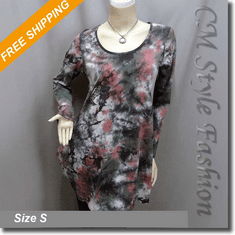 Tie Dye Pattern Pockets Tunic Frock Top Multi Color
