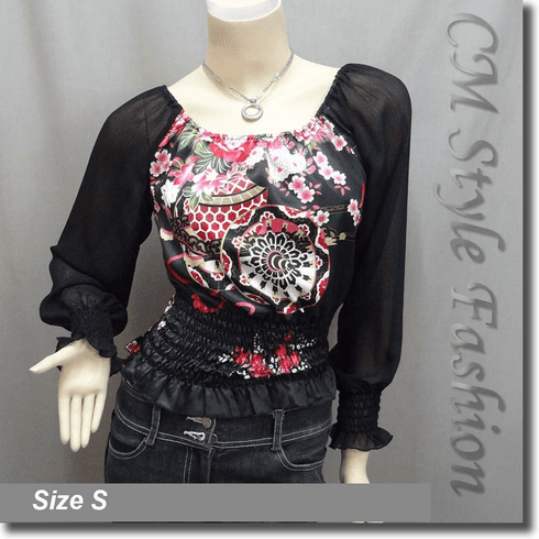 Wide Neckline On Off Shoulder Satin Top Black