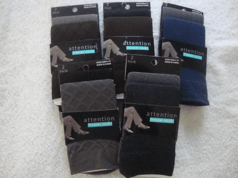 Attention Knee High Trouser Socks (2 Pairs over the knee)