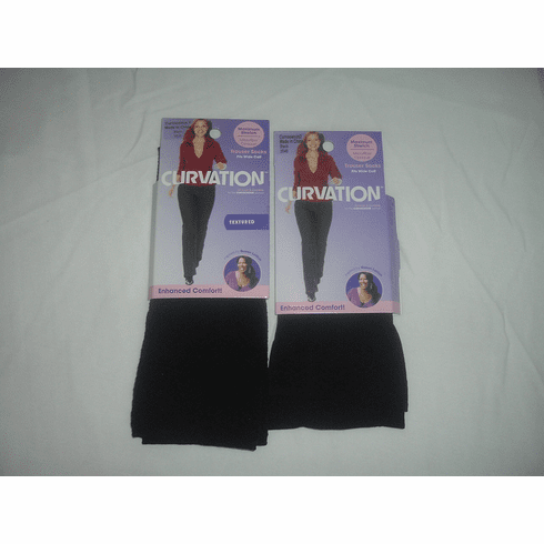 Curvation Microfiber Opaque Trouser Socks Textured. Only 3-pairs left in stock.