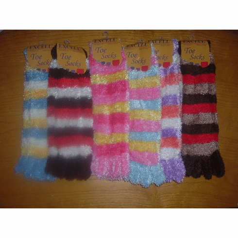 Excell Fuzzy Toe Socks(Colors are Limited-2-left)