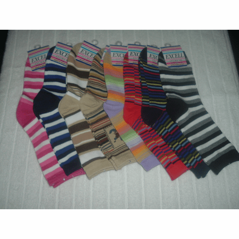 Excell Ladies Striped Socks