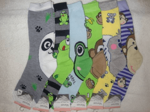 Marant Ladies Crew Length Animal Socks
