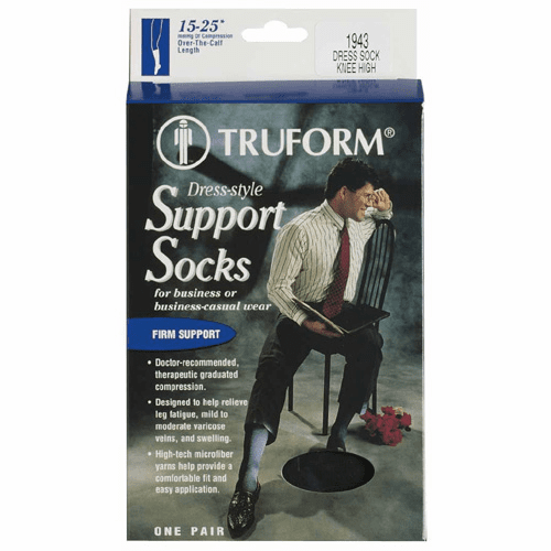 Truform Men's Dress Style Over-the-Calf Length With Firm Support (15-25mm) (While Supplies Last!)