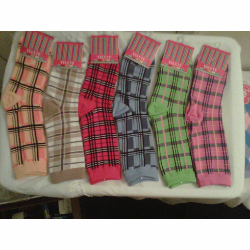 Yelete Crew Socks Assorted Colors
