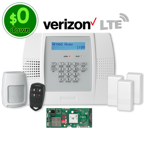 $0-Down Honeywell Home LYNX Plus L3000 Cellular Verizon LTE Wireless Alarm System