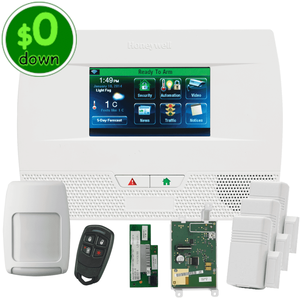$0-Down Honeywell Home LYNX Touch L5210 Dual-Path (WiFi & 3/4G GSM) Wireless Alarm System