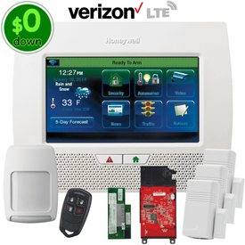 $0-Down Honeywell Home LYNX Touch L7000 Dual-Path (WiFi & Verizon LTE) Wireless Alarm System