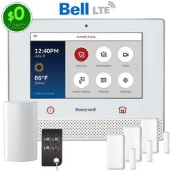 $0-Down Honeywell Lyric Controller Cellular Bell LTE Wireless Security System Kit