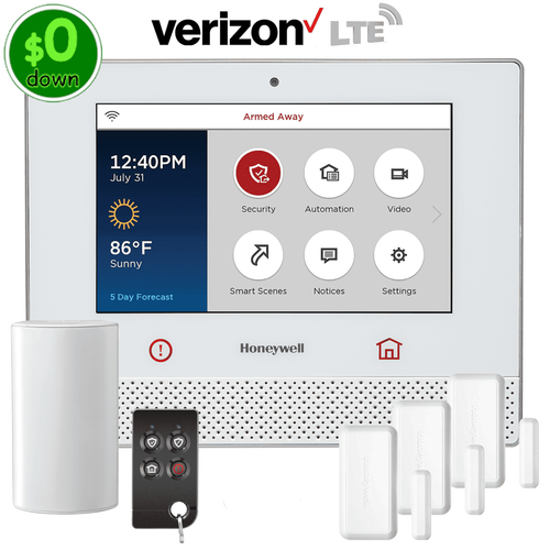 $0-Down Honeywell Lyric Controller Cellular LTE Wireless Security System Kit (via Verizon Network)