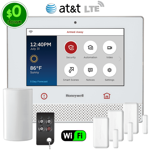 $0-Down Honeywell Lyric Controller Dual-Path Wireless Security System Kit (via AT&T LTE Network)