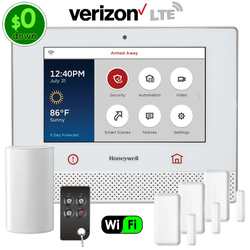 $0-Down Honeywell Lyric Controller Dual-Path (WiFi & Verizon LTE) Wireless Security System Kit