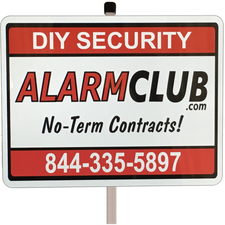 AlarmClub Home Security Yard Sign and Post
