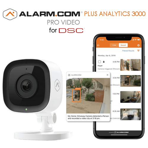 DSC Residential Home Video Surveillance Plus Analytics 3000 Services (Powered by Alarm.com)