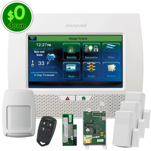 $0-Down Honeywell Home LYNX Touch L7000 Dual-Path (WiFi & 3/4G GSM) Wireless Alarm System