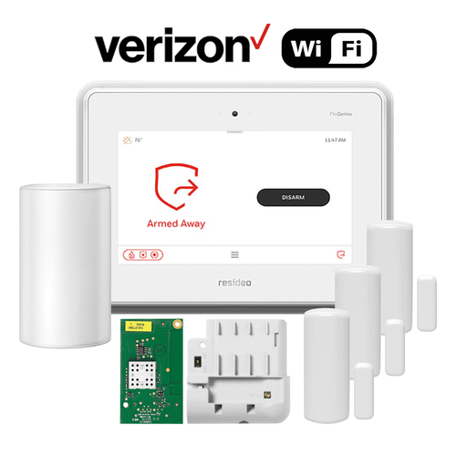 Honeywell Home ProSeries Dual-Path Wireless Security System Kit (for WiFi and Verizon LTE Network)