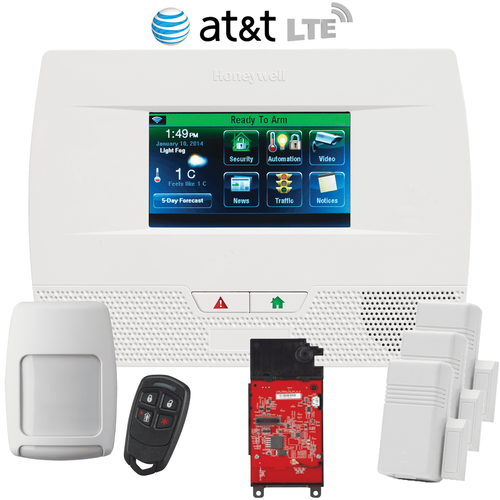 Honeywell Home LYNX Touch L5210 Cellular AT&T LTE Wireless Alarm System