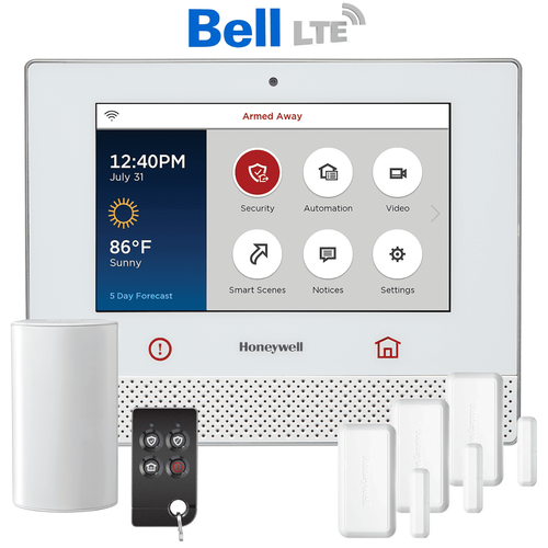 Honeywell Lyric Controller Cellular Canada LTE Wireless Security System Kit (via Bell Network)