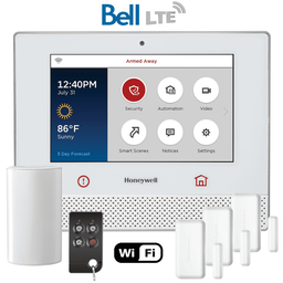 Honeywell Home Lyric Controller Dual-Path Wireless Security System Kit (for WiFi and Cellular Bell Canada LTE Network)